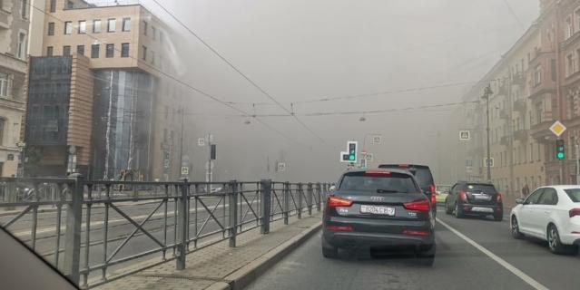 Пожар на Лиговском проспекте.