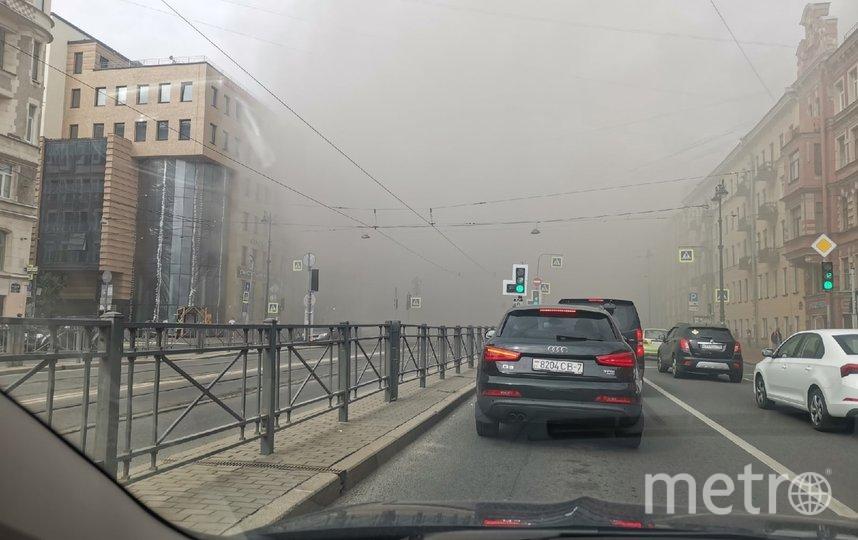 Пожар на Лиговском проспекте. Фото https://vk.com/spb_today