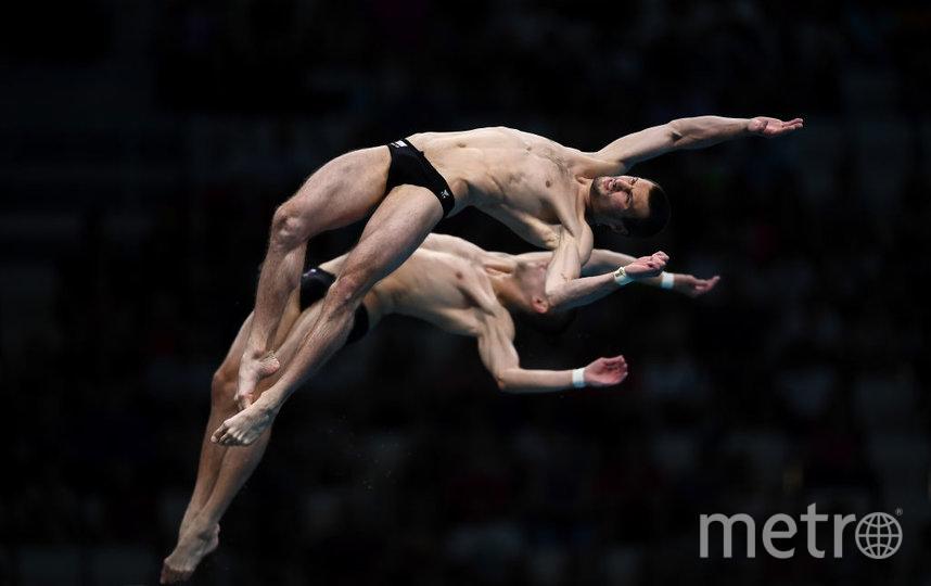 Александр Бондарь и Виктор Минибаев завоевали бронзу в синхронных прыжках в воду. Фото Getty
