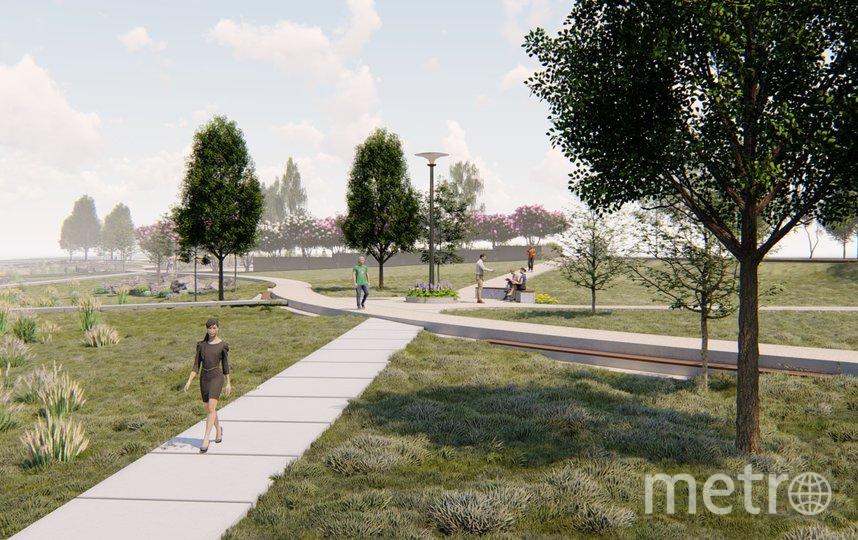 Проект будущего парка на набережной реки Глухарки в Петербурге. Фото https://www.gov.spb.ru/