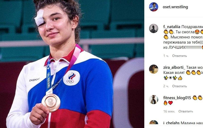 Для российской команды это 20-я медаль на этой Олимпиаде. Фото instagram.com/oset.wrestling/.