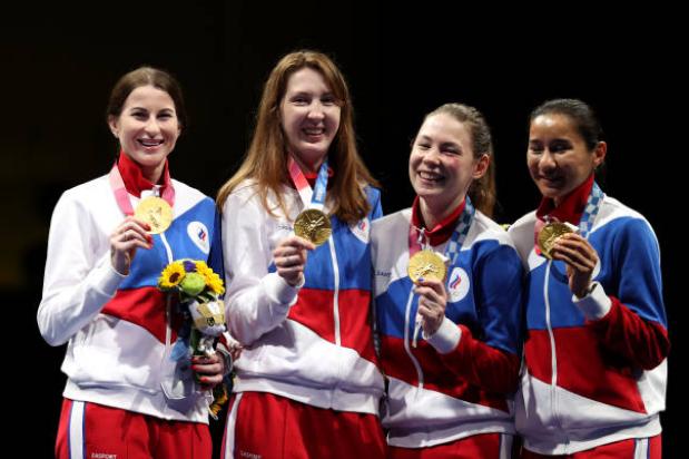 Инна Дериглазова, Лариса Коробейникова, Марта Мартьянова и Аделина Загидуллина. Фото Getty