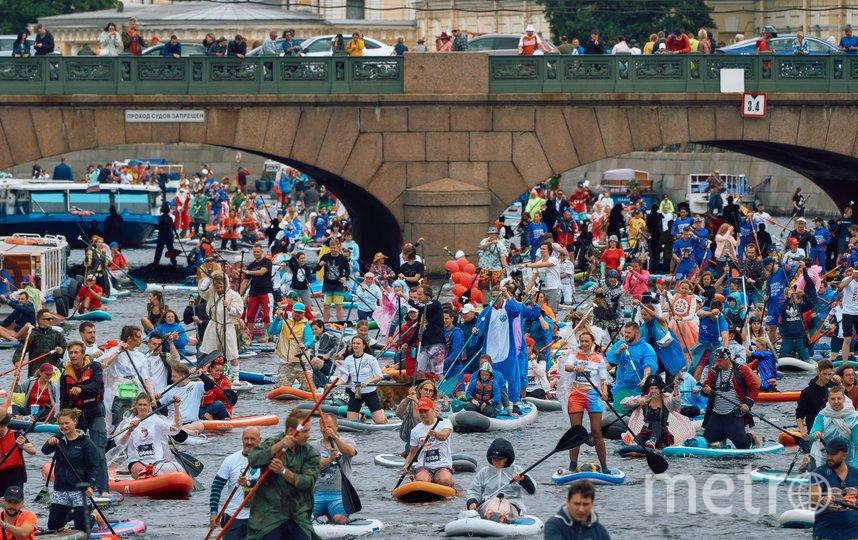 "Стартовал шестой по счету фестиваль ""Фонтанка-SUP"". Фото Metro."