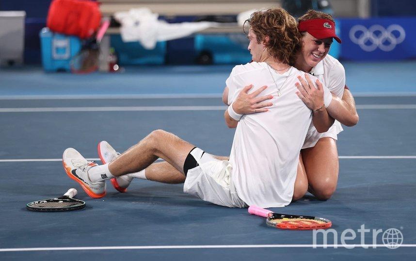 Рублев и Павлюченкова после победы в финале. Фото Getty