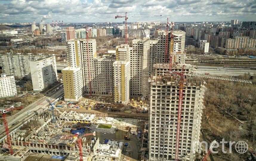"""Строительство жилья в столице идёт полным ходом. Фото АГН """"Москва"""""""