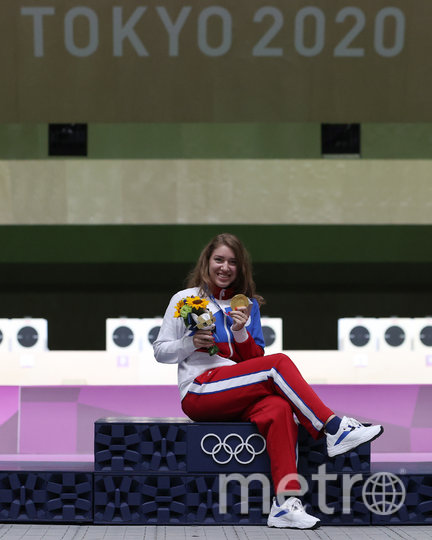 Виталина Бацарашкина после победы на 25 м. Фото Getty