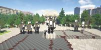 Центр Новосибирска воссоздали в Minecraft