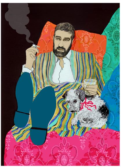 Портрет Сергея Довлатова с фокстерьером. Фото предоставлено автором