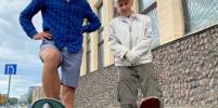 Даст фору молодым: 73-летний скейтер прокатился по Петербургу