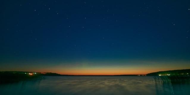 В Ленобласти сфотографировали первое в этом сезоне северное сияние.