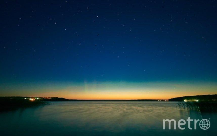 В Ленобласти сфотографировали первое в этом сезоне северное сияние. Фото instagram.com/tooluxel/.