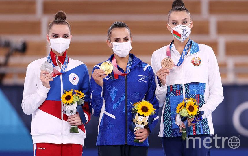 Золото досталось Лине Ашрам из Израиля, серебро - Дине Авериной из России, а бронзовую медаль получила Алина Горносько из Беларуси. Фото Getty