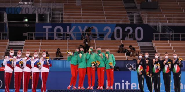 Первое место заняла команда Болгарии, второй - Росссия, а третье - Италия.