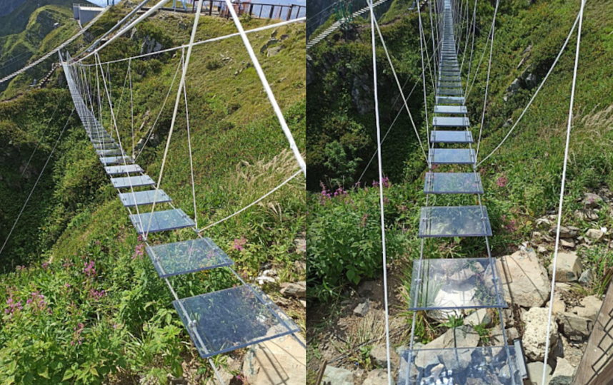 """Стеклянный подвесной мост появился на """"Роза Хуторе"""" в Сочи. Фото https://rosakhutor.com/"""