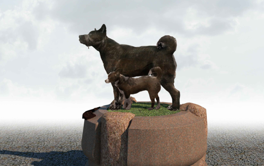 Примерно так будет выглядеть памятник. Фото Сергей Серёжин