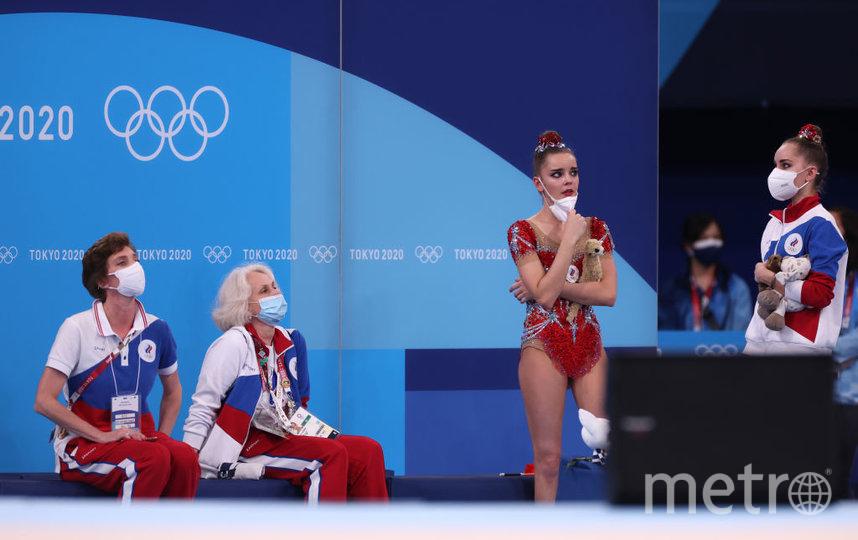 Дина Аверина в ожидании результатов. Фото Getty
