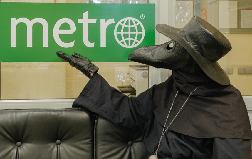 """Гостем Metro стал Чумной доктор. Фото Алена Бобрович., """"Metro"""""""