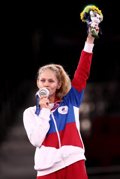 Серебряный призер Олимпиады Токио-2020 Татьяна Минина. Фото Getty