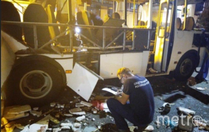 Взрыв в маршрутном автобусе ПАЗ произошел вечером 12 августа. Фото voronezh.sledcom.ru.