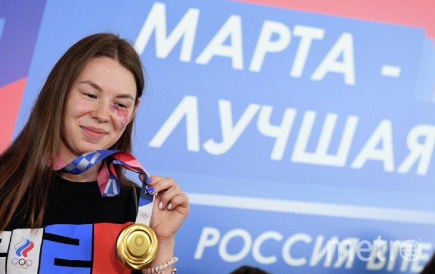 Так Марту встретили в Казани. Фото РИА Новости