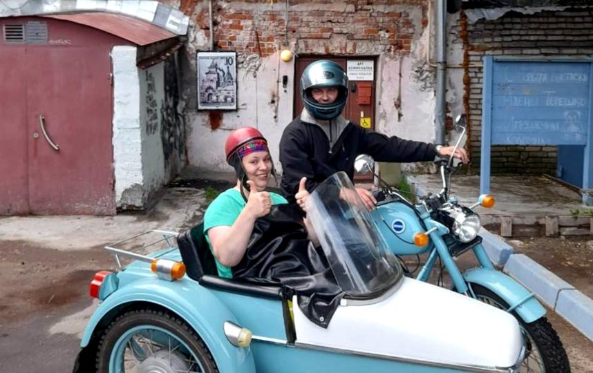 """""""Коломенский конструктивизм"""" – экскурсия на раритетном мотоцикле. Фото предоставлено """"Арткоммуналкой"""""""
