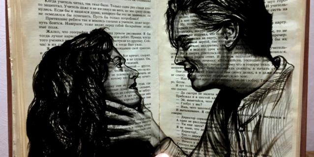 """Роза и Джек из """"Титаника""""."""