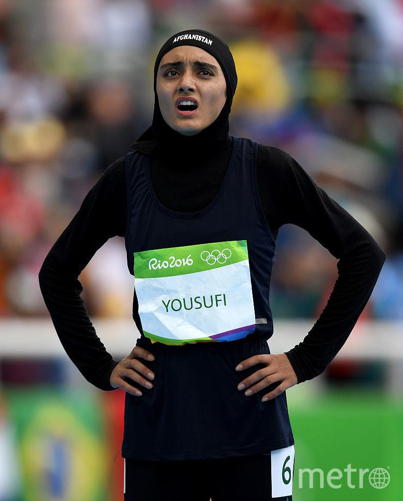 Даже на спортивных мероприятиях девушки из Афганистана покрывают голову. Фото Getty