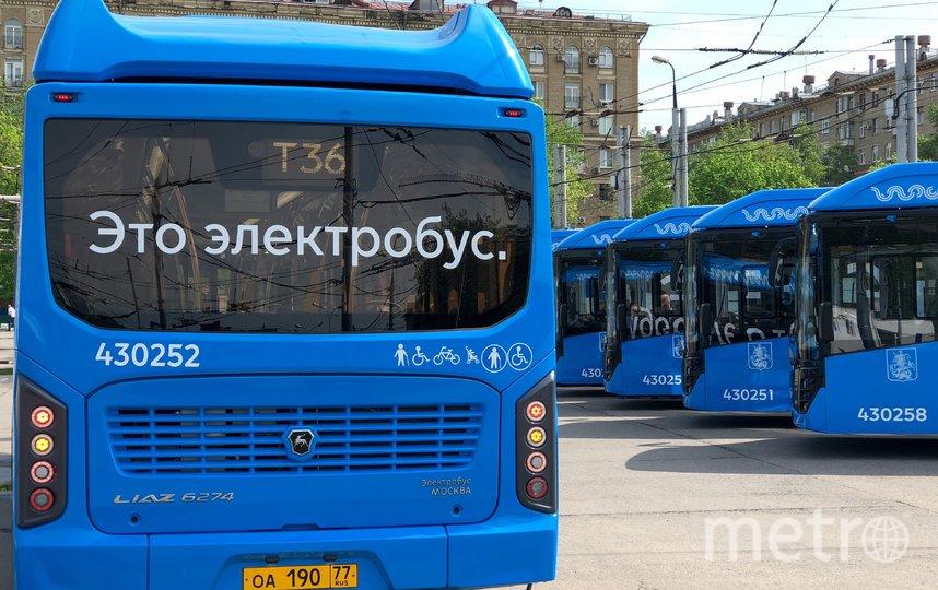 """Электробус на маршруте. Фото АГН """"Москва"""""""