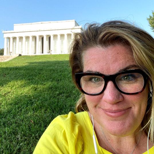 Мемориал Линкольну, где Кэти вела урок. Фото Instagram @cathycluck