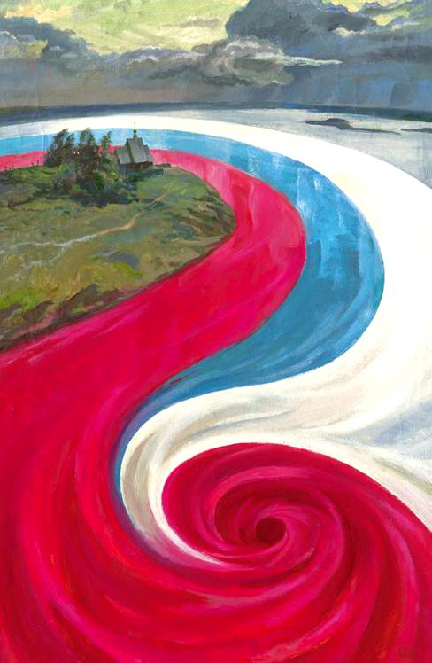 """""""Красный водоворот"""". Фото Иллюстрации предоставлены музеем политической истории России."""