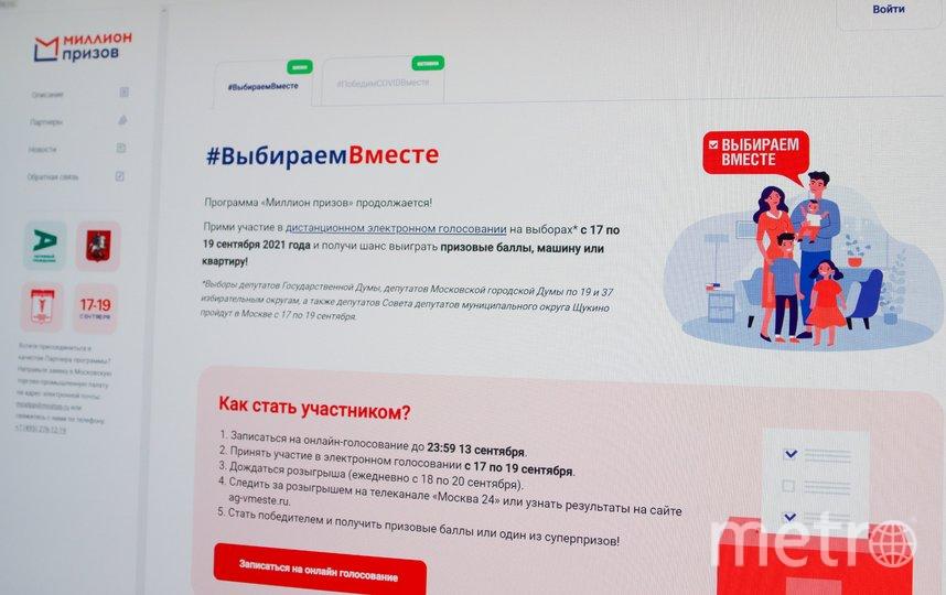 """Напомним, что регистрация на онлайн-голосование открылась 2 августа. Фото АГН """"Москва"""""""