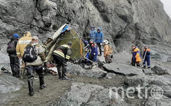 Пассажирский самолет Ан-26 разбился 6 июля. Фото МЧС России по Камчатскому краю.