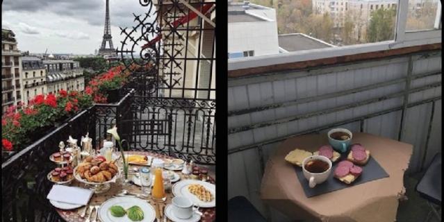 Завтрак в Париже.
