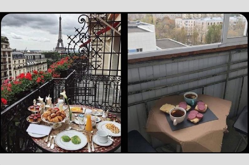 Завтрак в Париже. Фото VK@ КАК Я ВСТРЕТИЛ СТОЛБНЯК