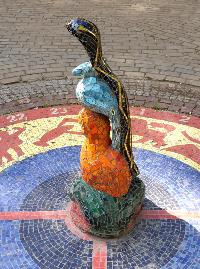 """Солнечные часы в Мозаичном дворике. Фото Алена Бобрович, """"Metro"""""""