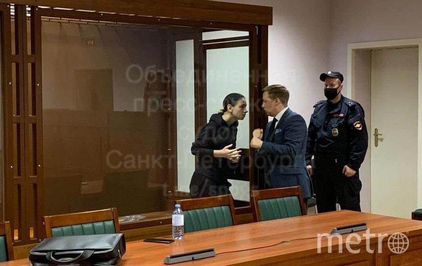 По решению суда обвиняемая будет находиться под арестом до 30 октября. Фото Объединенная пресс-служба судов Санкт-Петербурга.