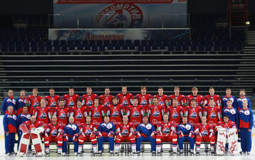 Хоккейный клуб «Локомотив» во время официальной предсезонной фотосессии за две недели до трагедии. Фото Ярослав Неёлов, РИА Новости