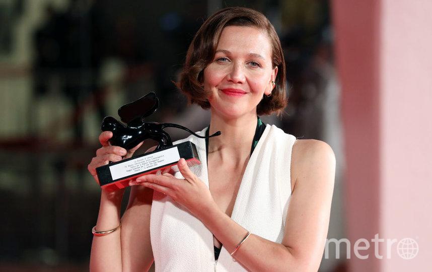 Мэгги Джилленхолл на церемонии закрытия Венецианского кинофестиваля. Фото Getty