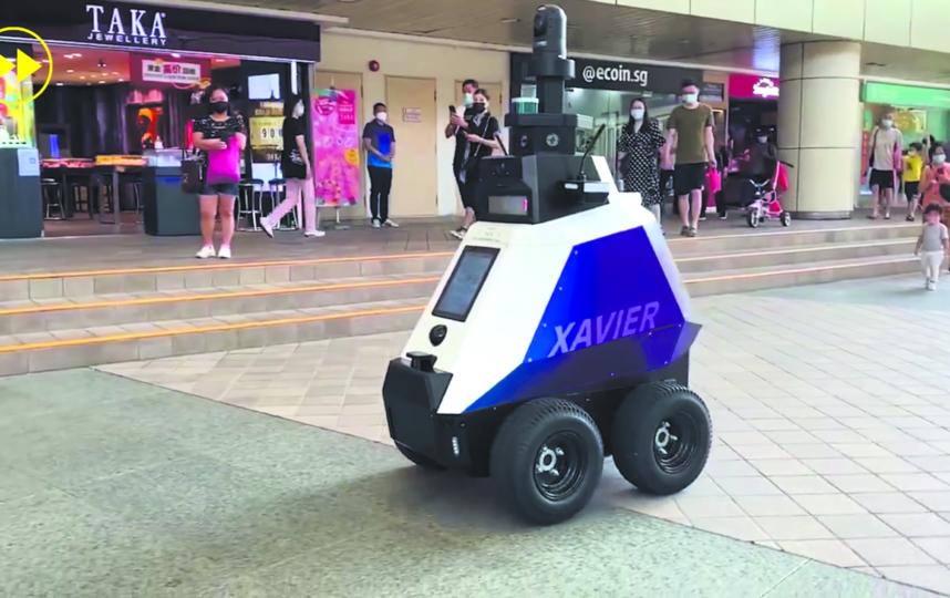 Сингапурский робот. Фото Скриншот YouTube-канала FASTFORWARD: DISRUPTIVE TECHNOLOGIES