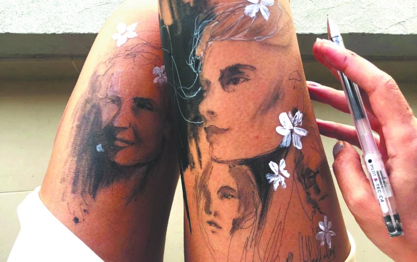 По настроению Ранда может нарисовать что-нибудь сразу на двух ногах. Фото Скриншот Instagram @randahaddadin.