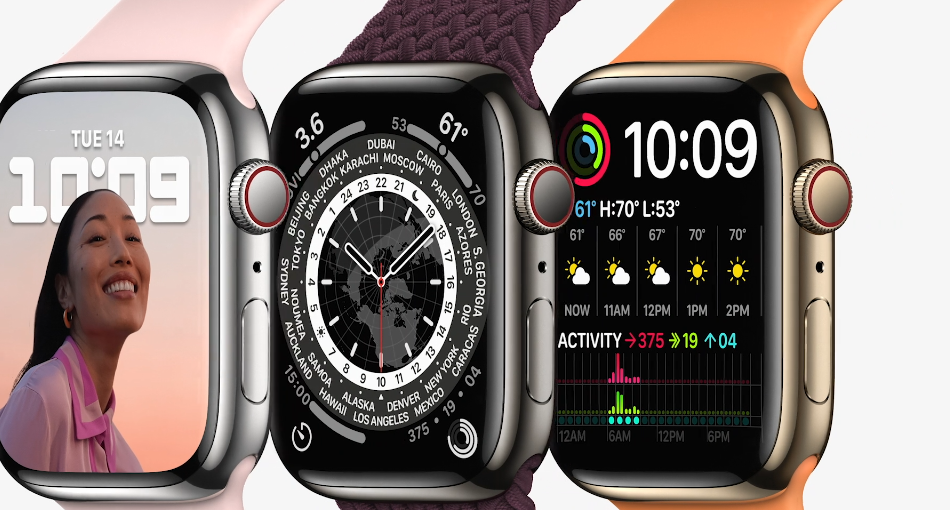 Apple Watch  7. Фото Скриншот презентации.