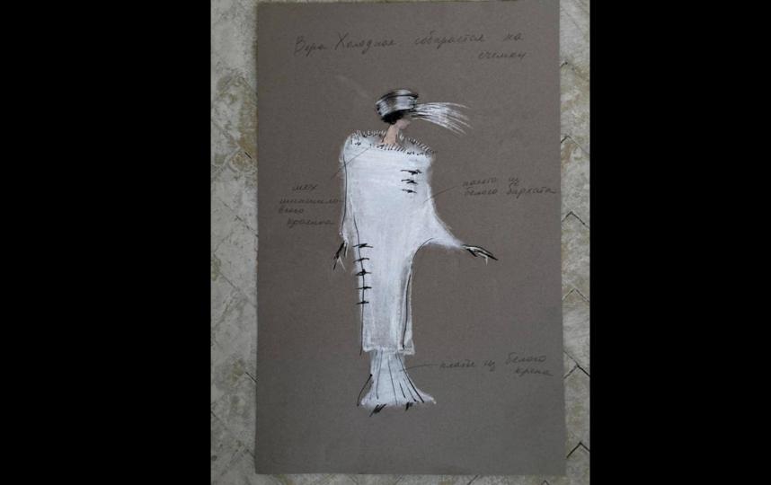 """""""Кокон"""" для Паулины Андреевой, чтобы превратить её в Веру Холодную. Фото предоставлены пресс-службой первого канала"""