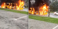 Утром в Петербурге загорелся пассажирский автобус: что стало причиной возгорания