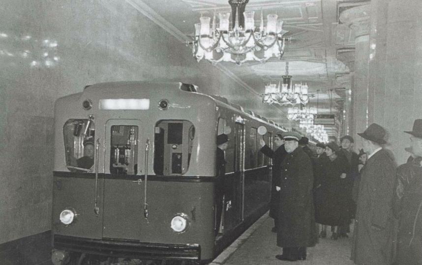 Так выглядело метро в 1955 году. Фото пресс-служба петербургского метрополитена