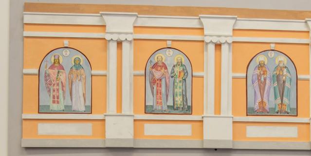 """Всего в мастерской """"Монастырская слобода"""" создадут 7 мозаик со святыми покровителями Петербурга."""