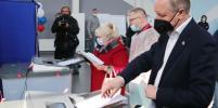 Александр Беглов проголосовал на выборах депутатов Госдумы и Законодательного собрания