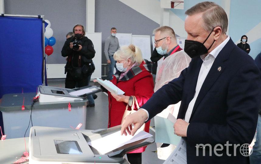 Александр Беглов на избирательном участке. Фото https://www.gov.spb.ru