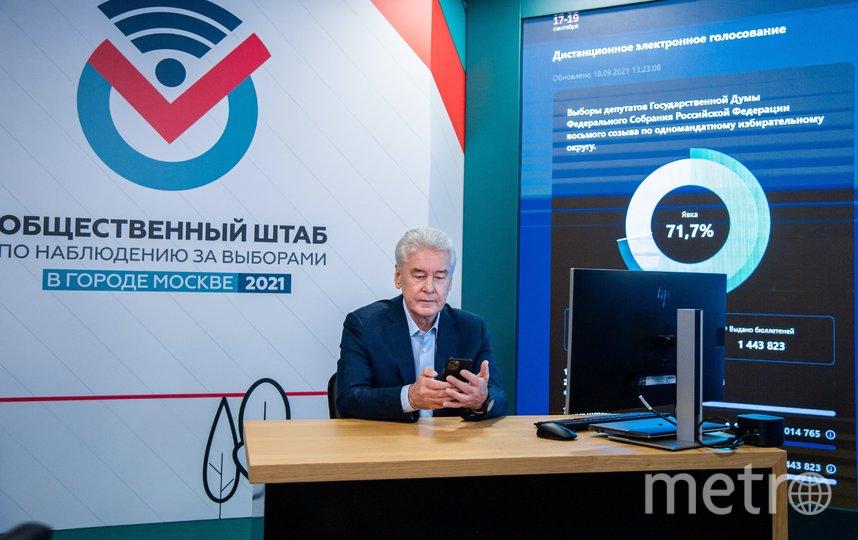 На выборах в Госдуму Сергей Собянин проголосовал дистанционно. Фото Максим Мишин, пресс-служба мэра и правительства столицы