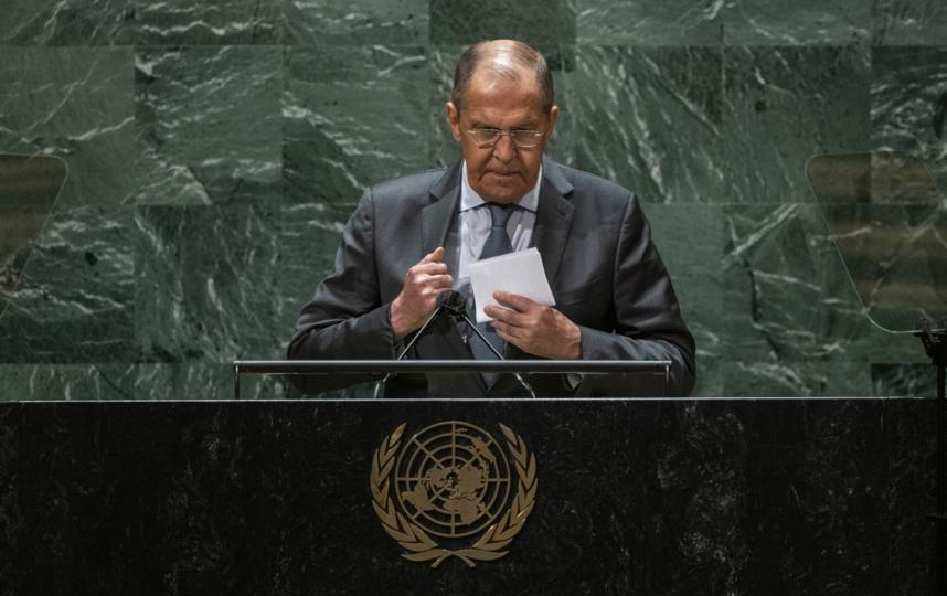 Сергей Лавров представлял интересы России на 76-й сессии Генассамблеи ООН. Фото AFP