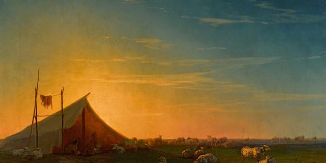 """Картина И. Айвазовского """"Становище пастухов"""" ушла с торгов в Лондоне в июне 2021 за 355 тыс.$."""